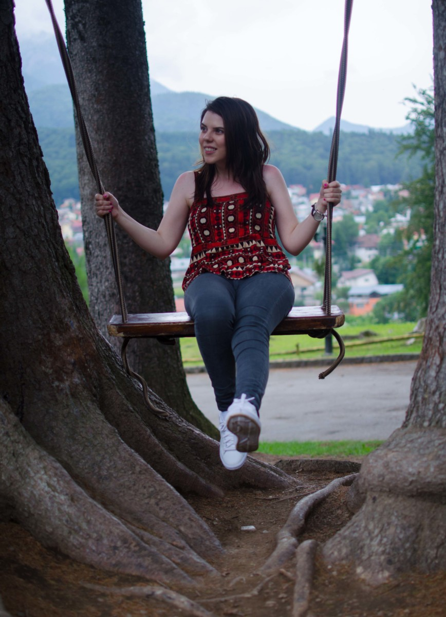 swing in the mountains
