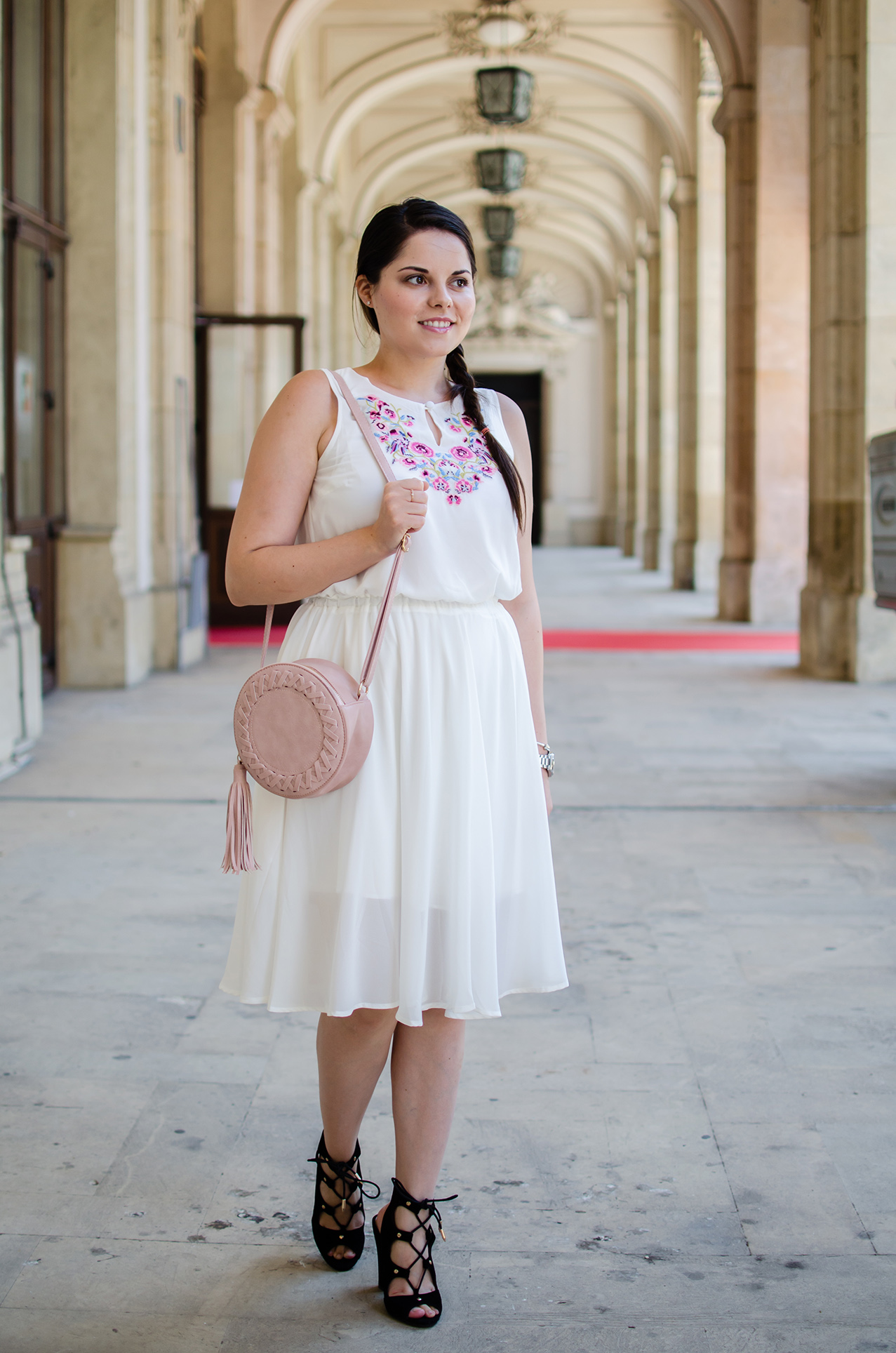sammydress pink round bag