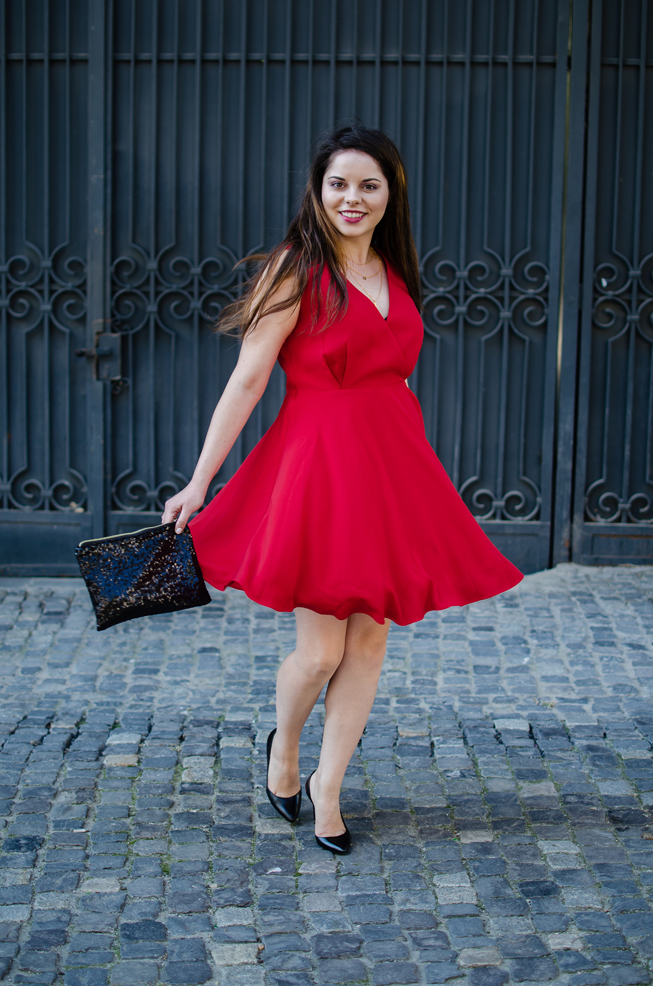 elegant vip me red dress