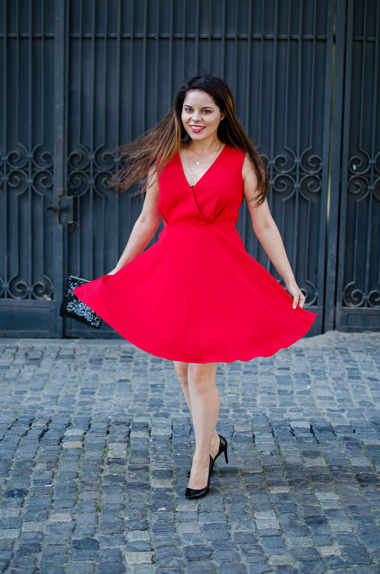 twirl red dress