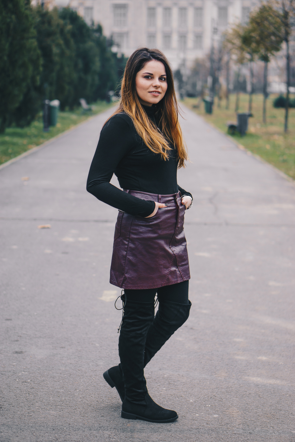 twinkle deals leather skirt
