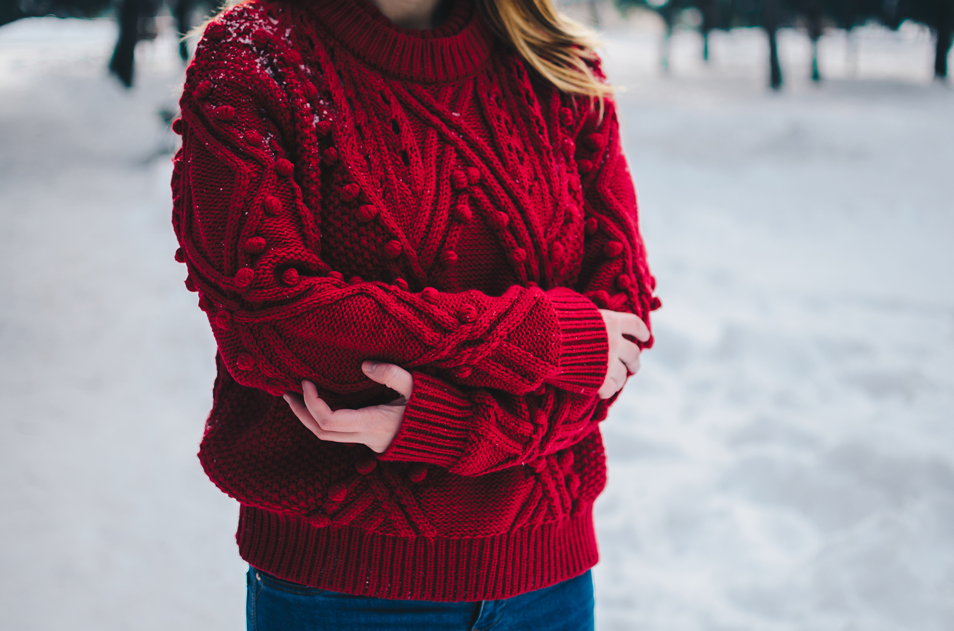Cut Out Cable Knit Sweater