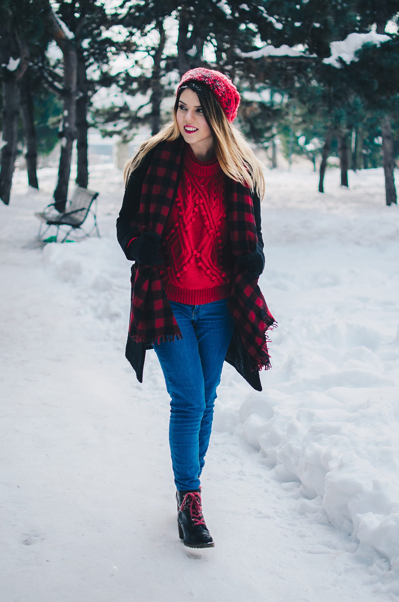 red winter outfit anotherside of me blog
