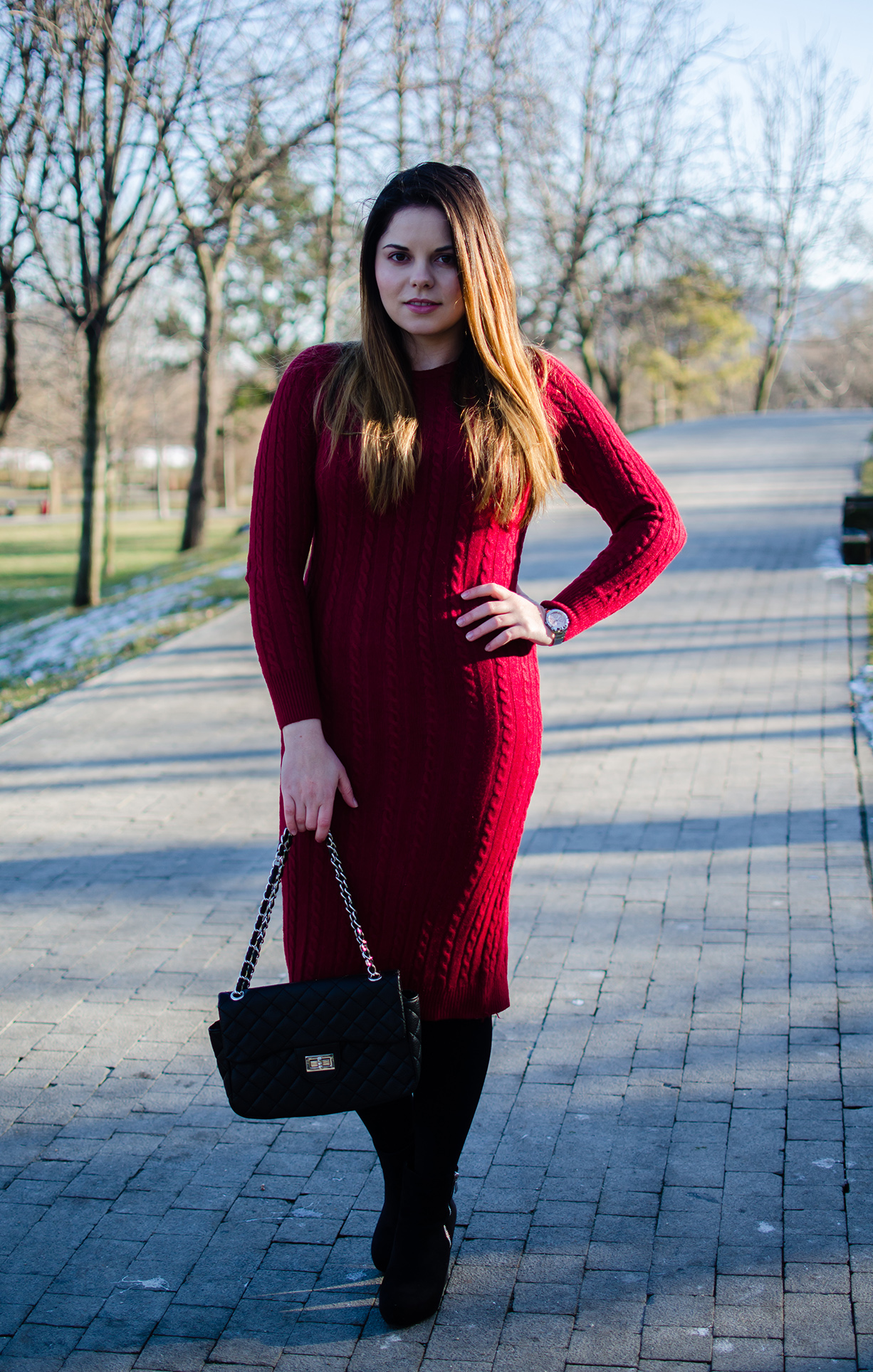 sammydress red sweater dress
