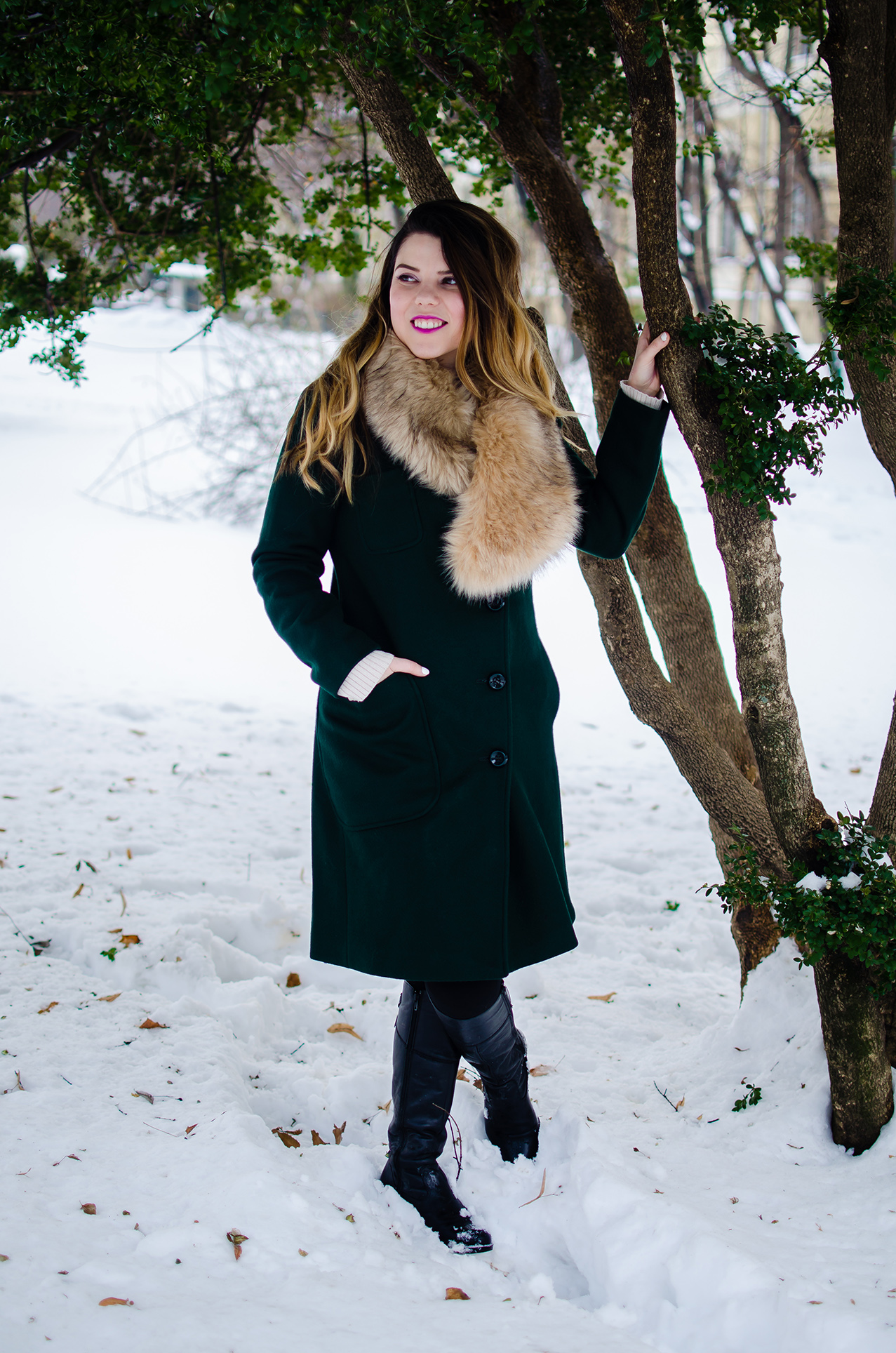 vip me winter green coat