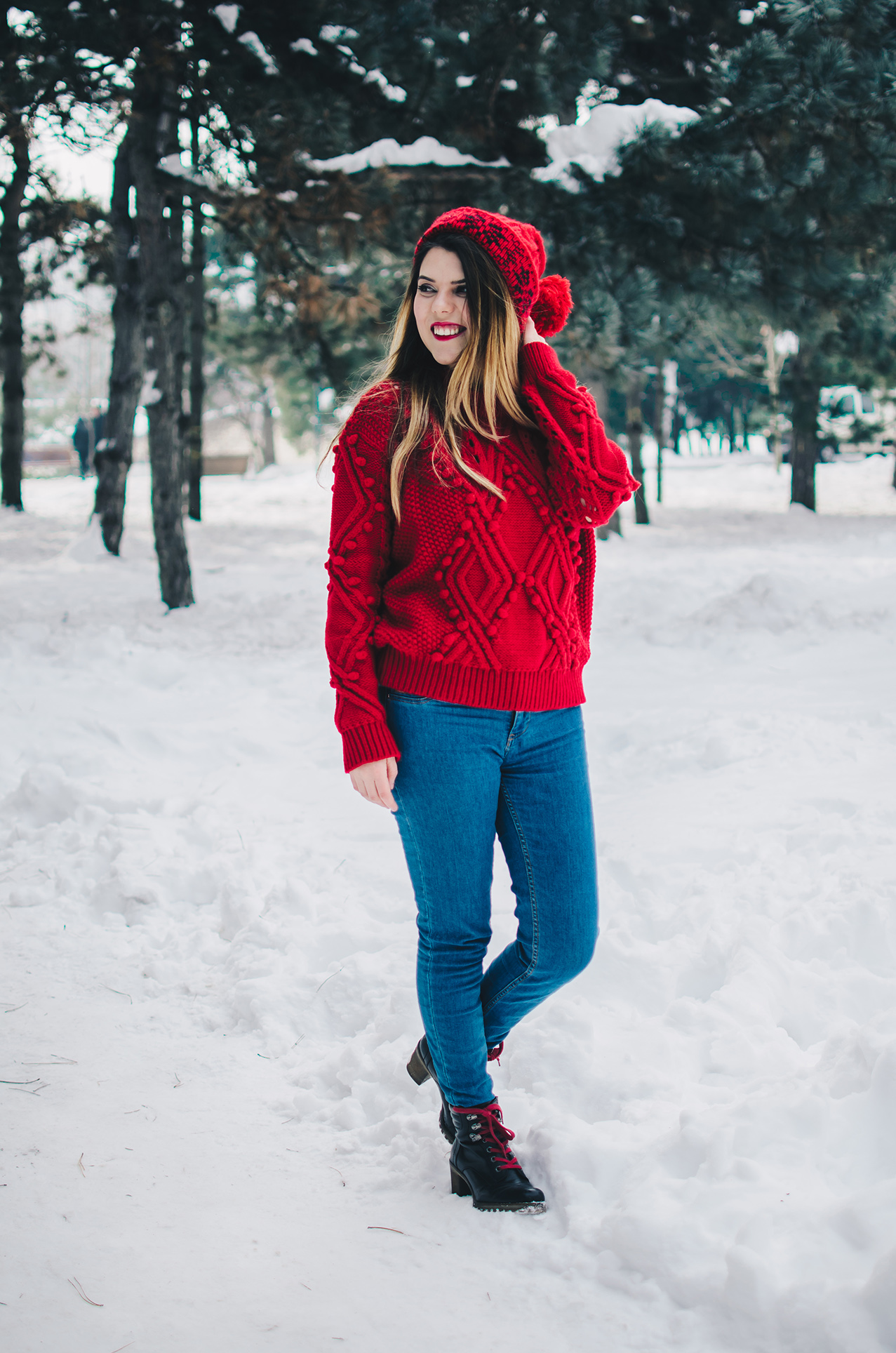 zaful red sweater