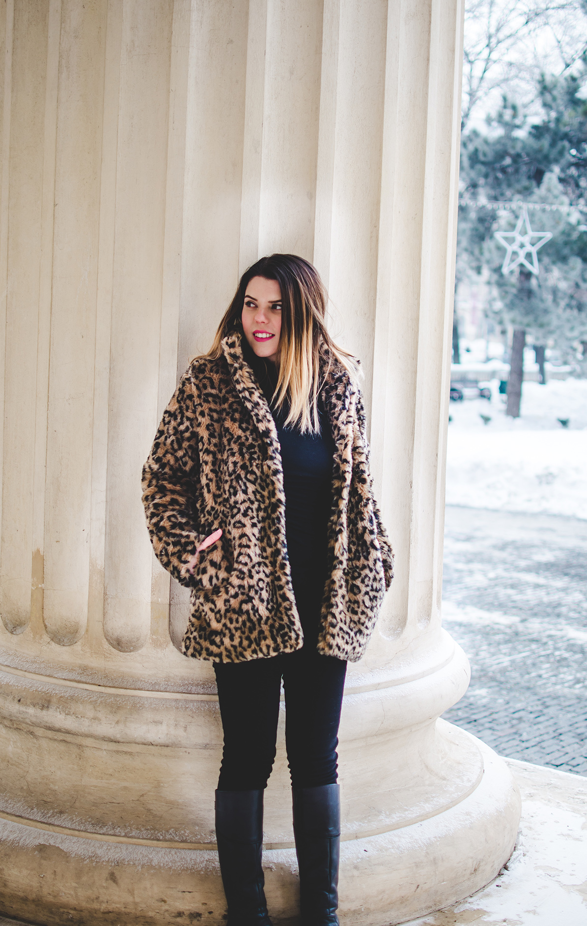 leopard print jacket outfit anotherside of me blog