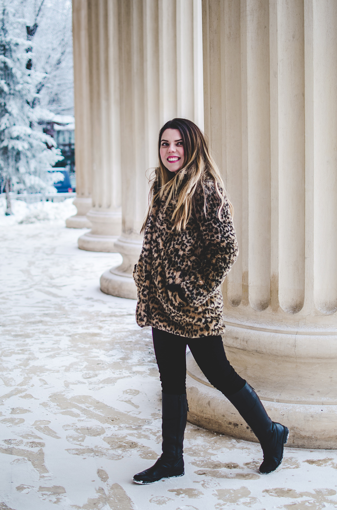 leopard print winter jacket
