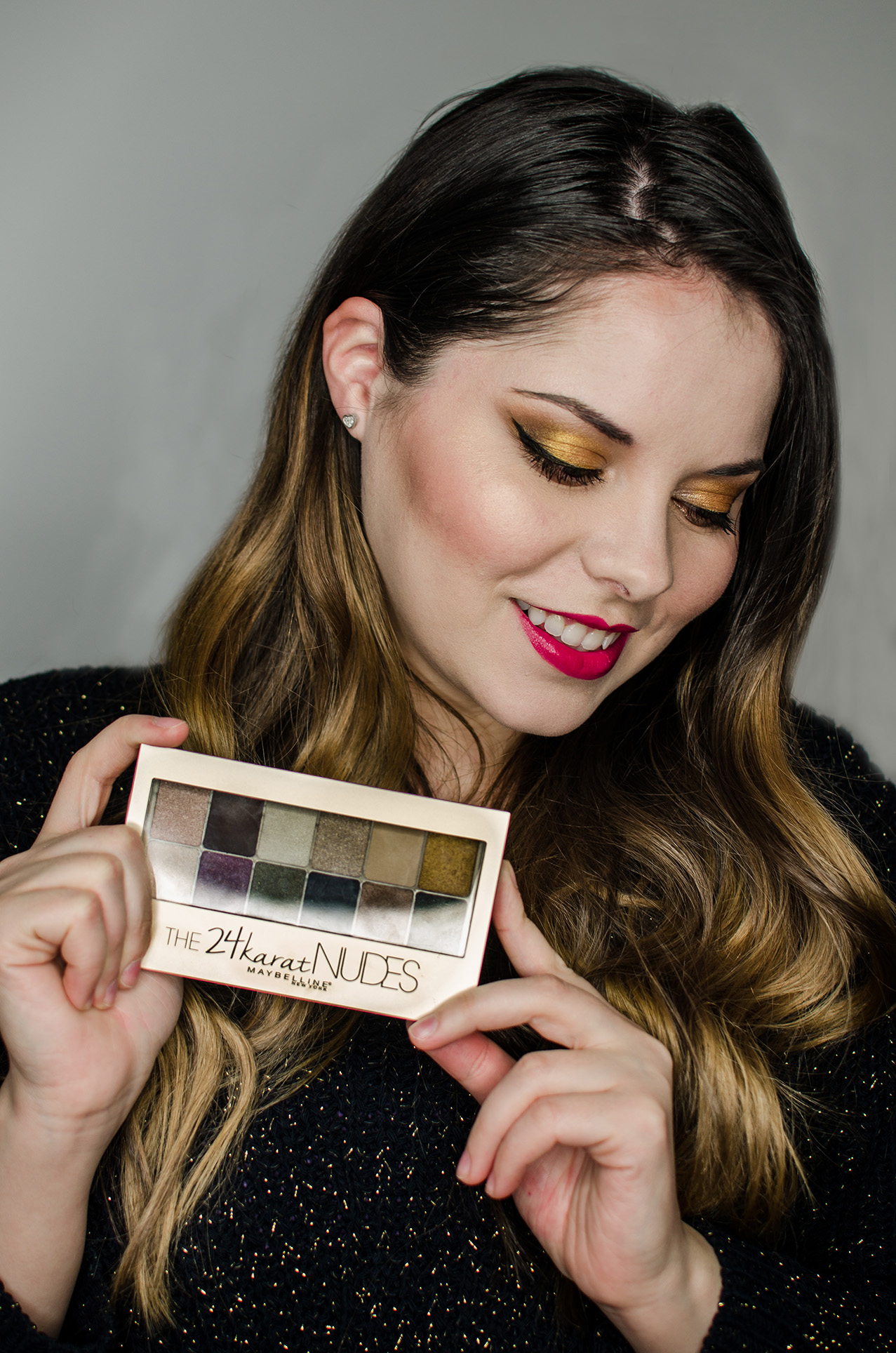 maybelline 24 k NUDES palette review and swatches anotherside of me blog