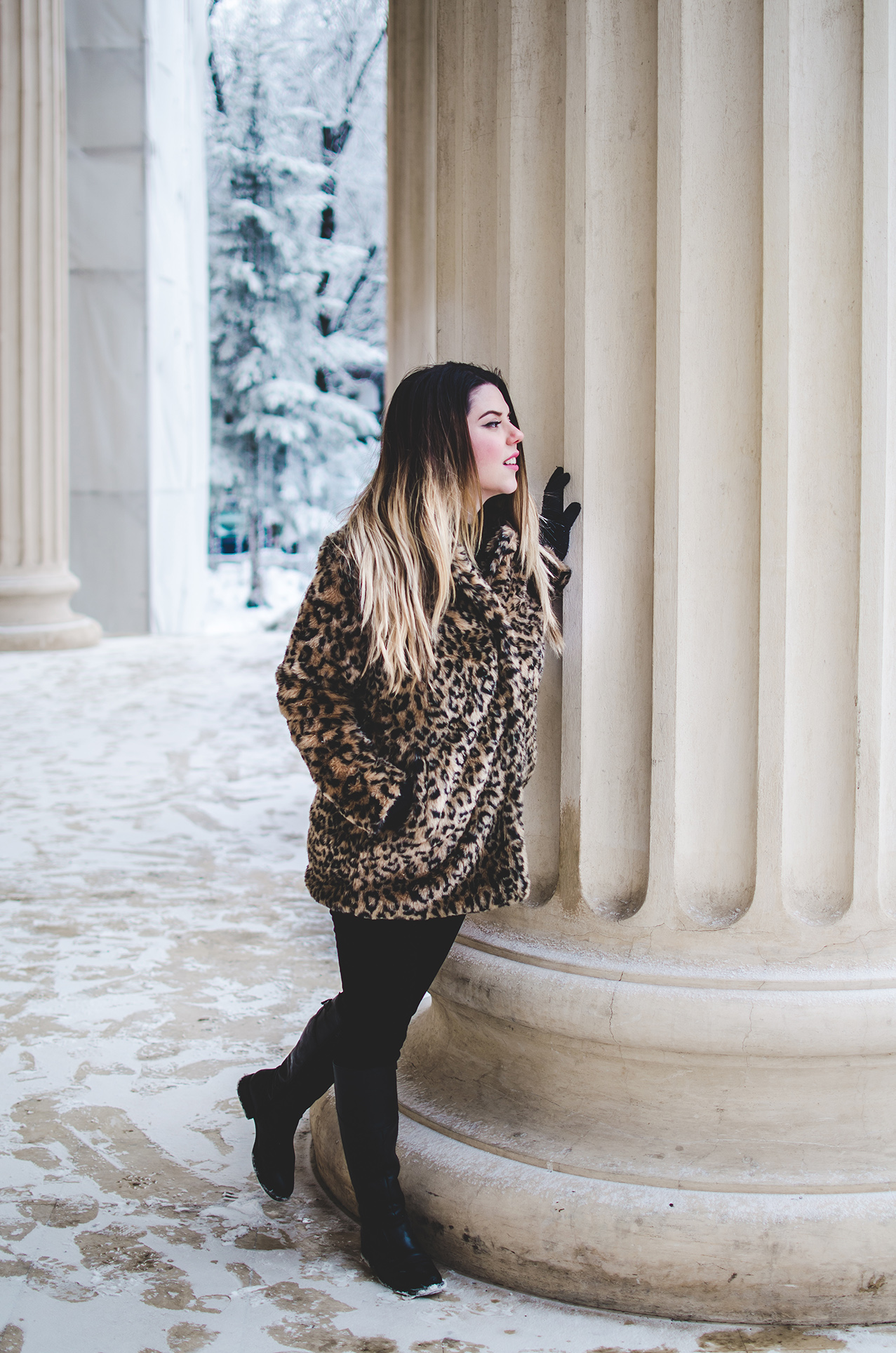zaful faux fur leopard print coat