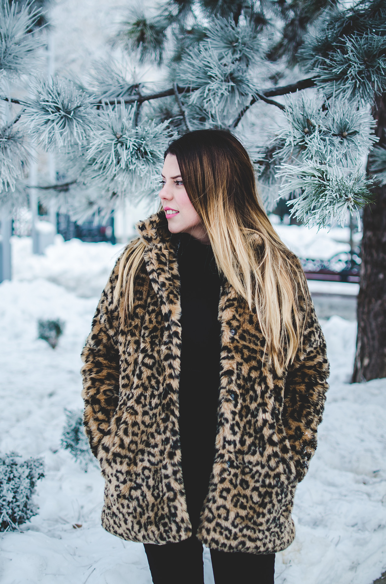 zaful leopard print coat