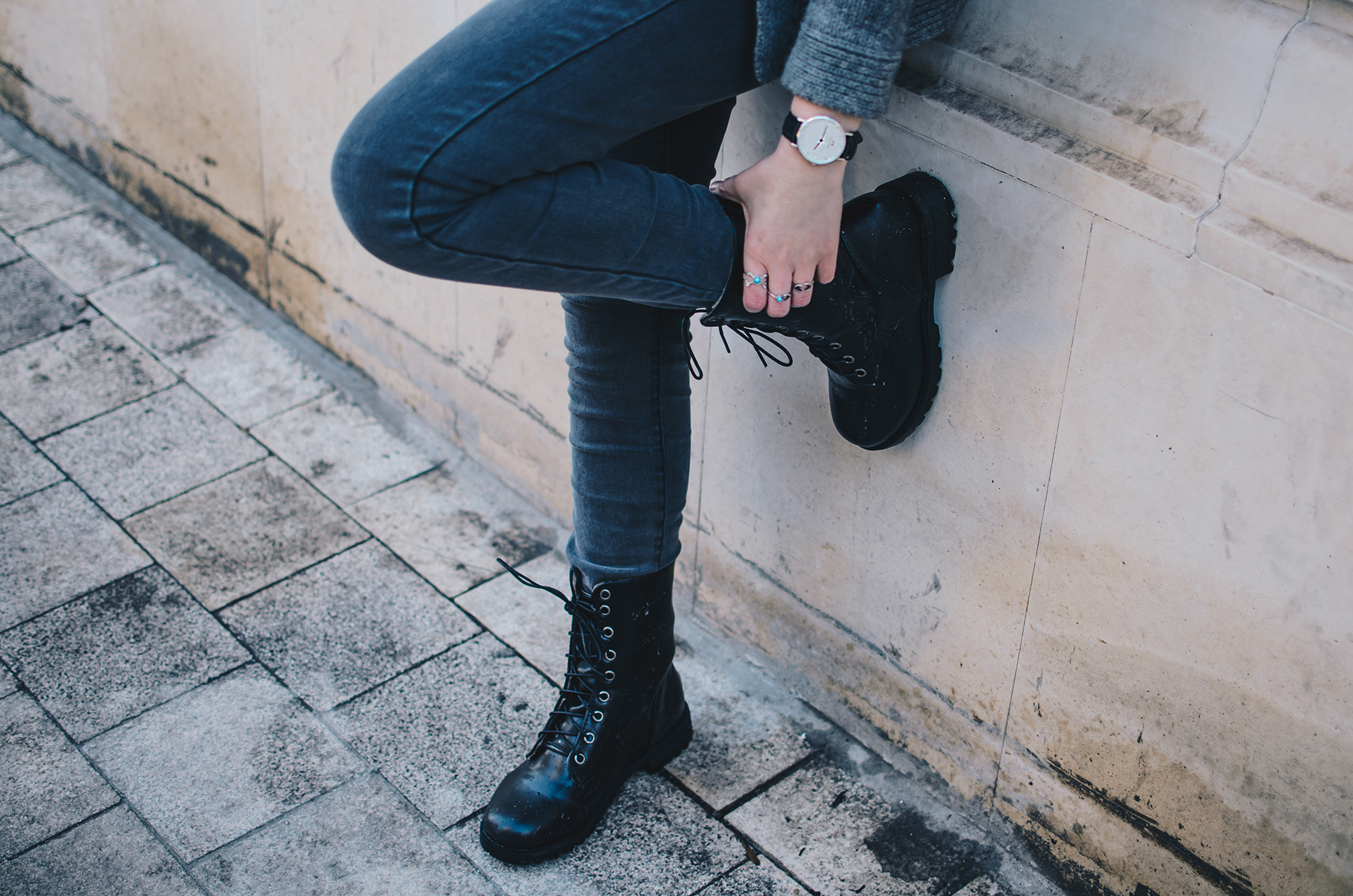 Lace-Up Women's Combat Boots