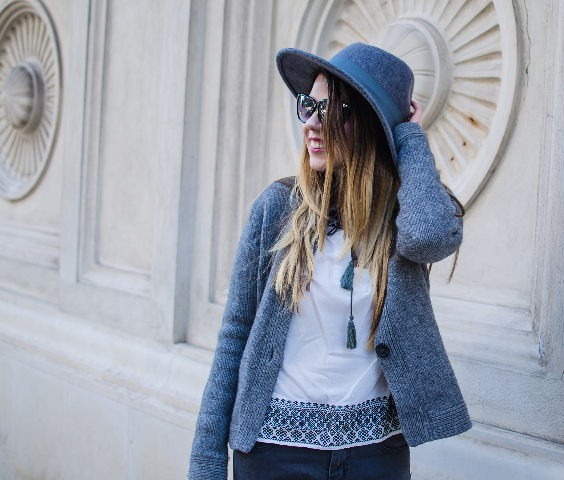 spring grey outfit