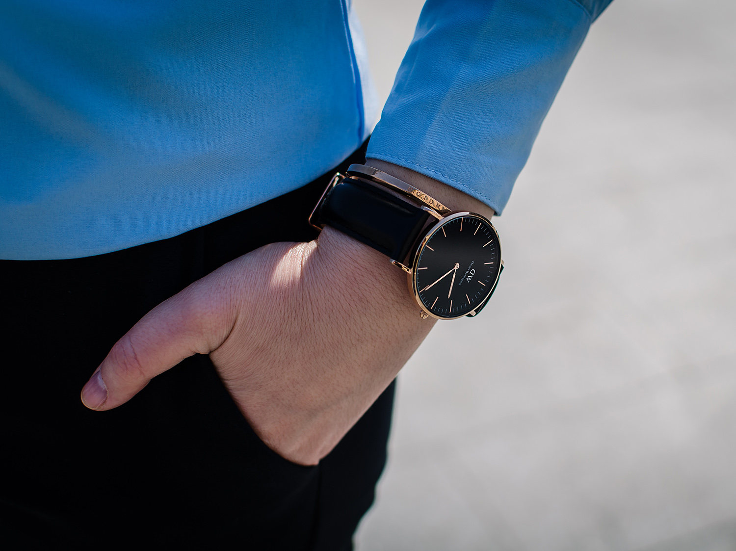 daniel wellington classic black rose gold