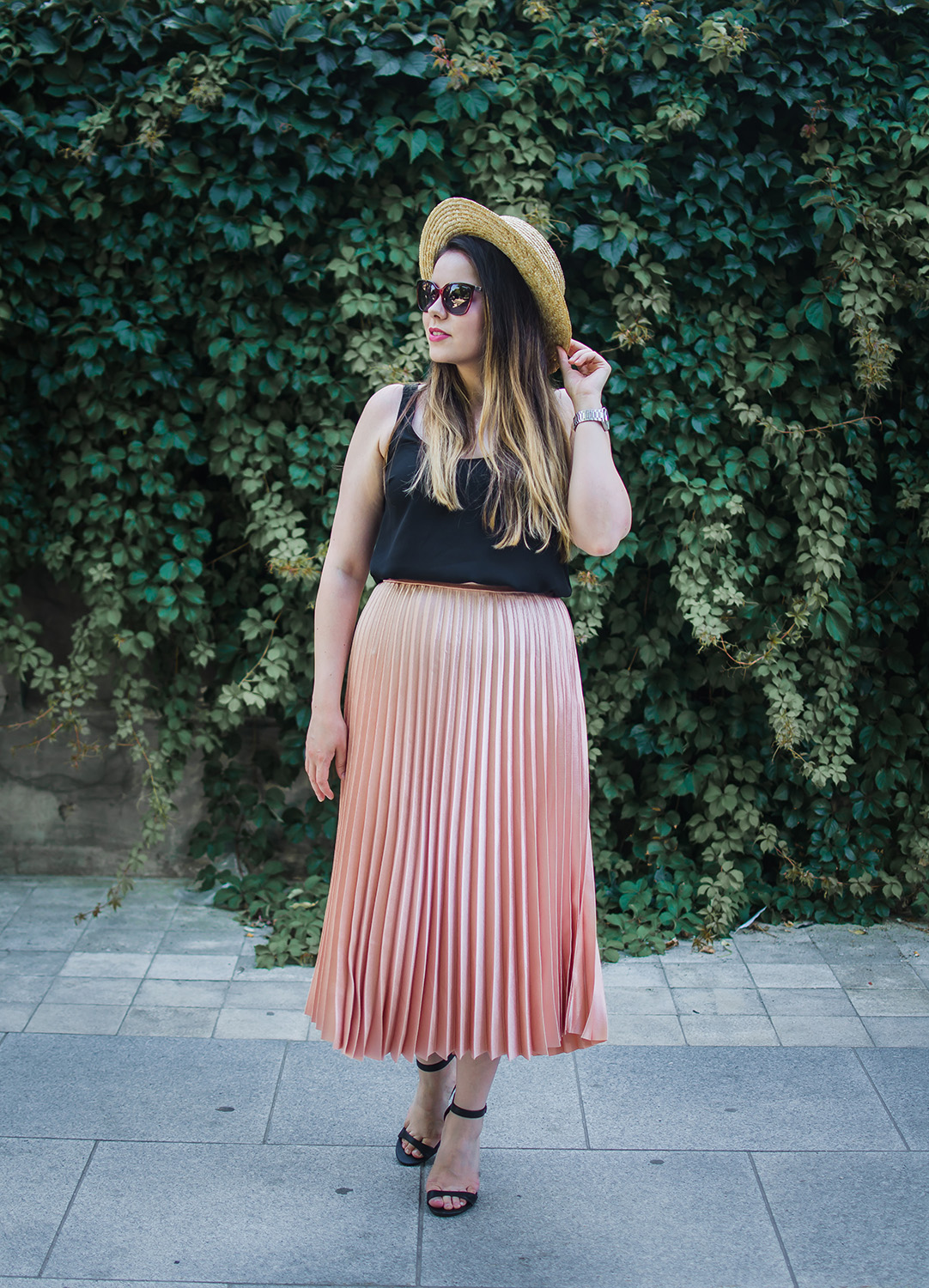 zaful pleated skirt