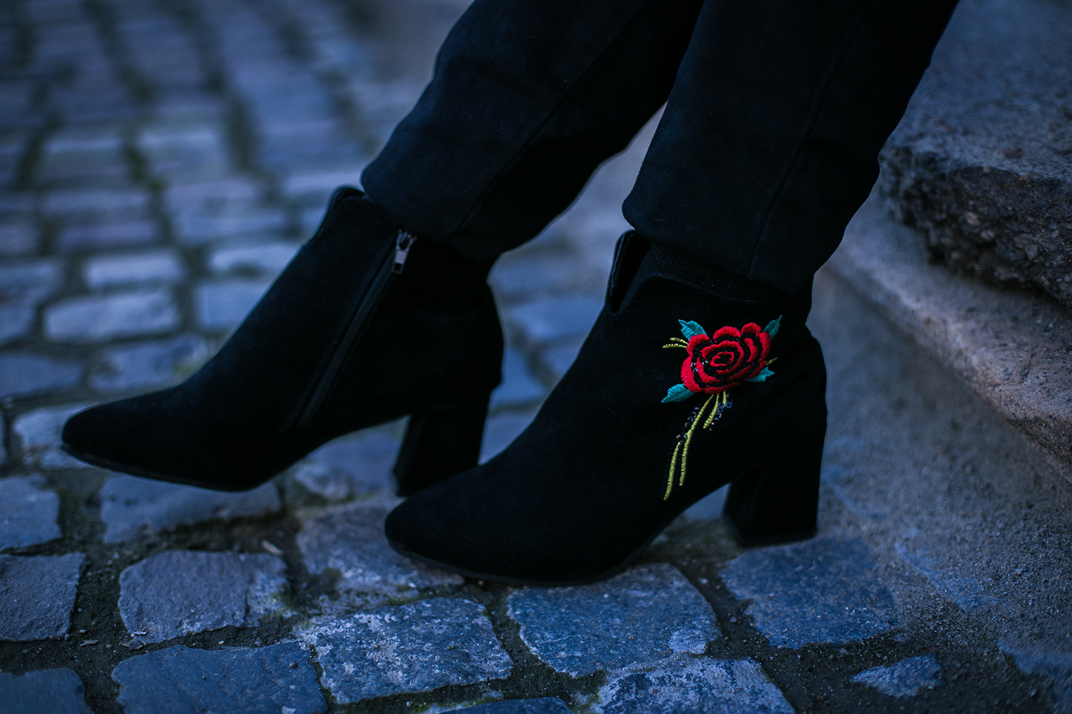new chic embroidered booties