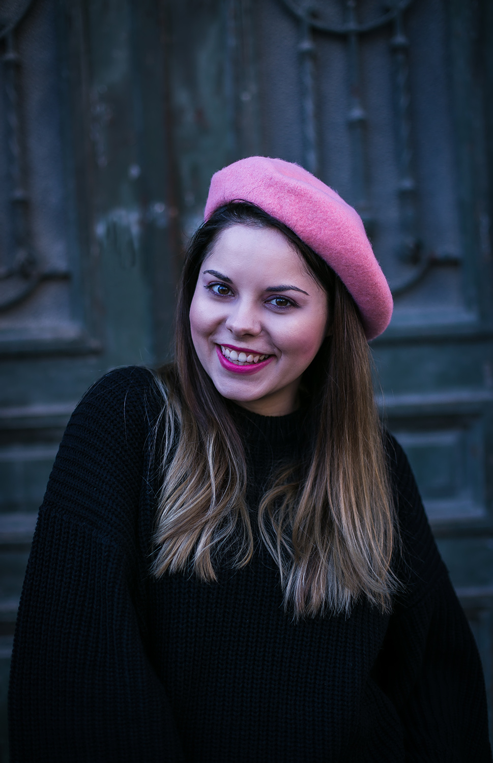 new chic pink beret